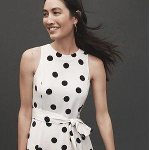正价区5折+折扣区额外6折Ann Taylor Factory 夏季大促 $15收优雅小黑裙