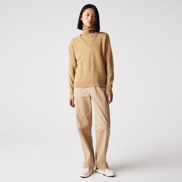 V领羊毛衫