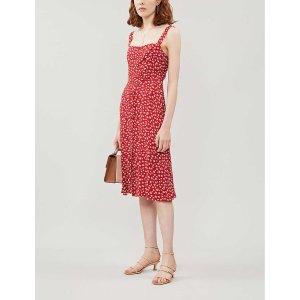 ReformationPersimmon floral-pattern crepe midi dress