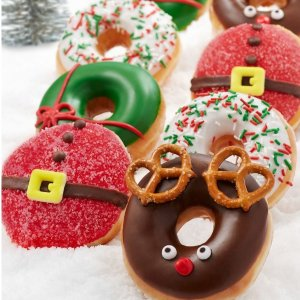 限时供应仅到圣诞节前夜Krispy Kreme 圣诞节款甜甜圈甜蜜上市