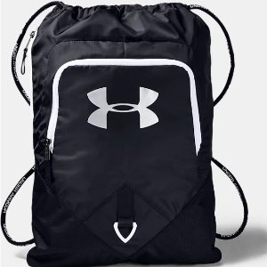 $12.5(原价$25)包邮Under Armour 黑色便携式双肩包5折促销