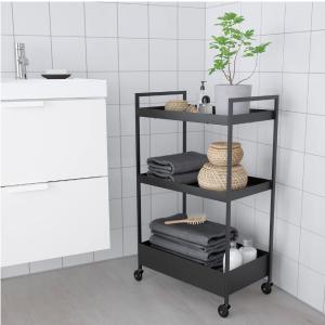 €9收爆款 浴室厨房 收纳再不难IKEA 网红小推车 高颜值的移动置物架 在哪儿都能随手get