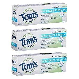 $10.32 (原价$20.97)闪购:Tom's of Maine 天然抗敏感牙膏 3支
