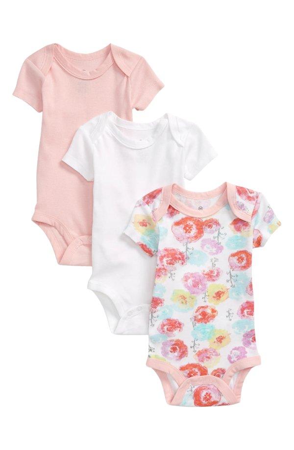 婴儿有机棉包臀衫3件