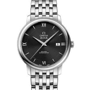 Extra $50 OffDealmoon Exclusive: OMEGA De Ville Prestige Black Dial Automatic Men's Watch