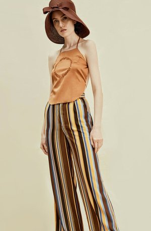 Ecru Emissary | Rimless | Copper Irregular Striped Pant