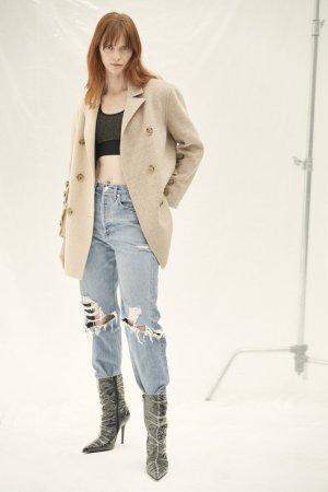 QUAINT 2019 AW Runway Rickie Wool Blend Blazer Coat