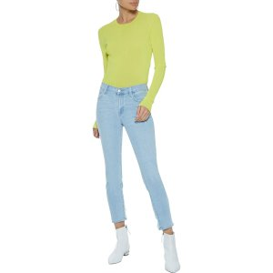 J Brand835 cropped distressed mid-rise skinny jeans