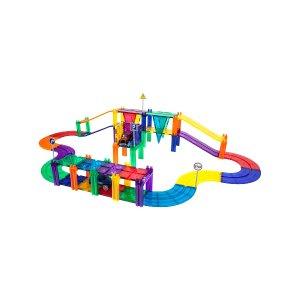 PicassoTilesRace Track 50-Piece Magnetic Building Block Set