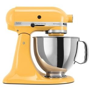 KitchenAidButtercup Refurbished Artisan® Series 5 Quart Tilt-Head Stand Mixer RRK150BF | KitchenAid