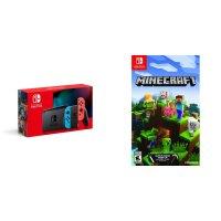 Nintendo Switch 续航增强版红蓝配色 + Minecraft 我的世界