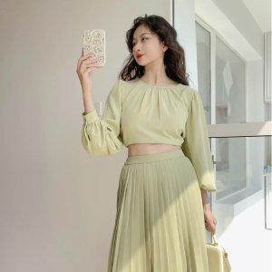 低至3折 €7.9收鹅黄色百褶裙Uniqlo 夏季活力穿搭 奶油色、牛油果色、芒果色、氧气女孩上线