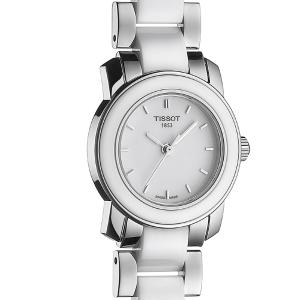 Lowest priceTISSOT T-Trend White Ceramic Ladies Watch T0642102201100