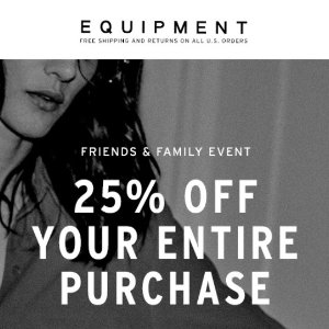 Extra 25% OffSitewide @ Equipment