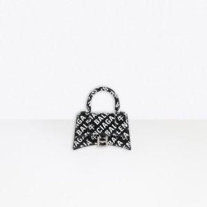 BalenciagaLittle OX Hourglass XS Top Handle Bag Black for Women | Balenciaga