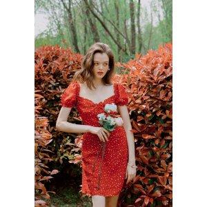 Petite StudioMaisy碎花裙- Red Print