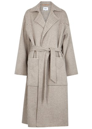 Nanushka Alamo houndstooth wool-blend coat - Harvey Nichols