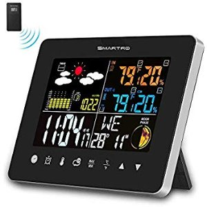 Wireless Indoor Outdoor Thermometer, Weather Station Color Large Display, Room Hygrometer Temperature and Humidity Monitor GaugE