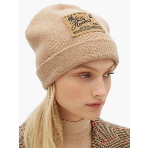 Raf Simons刺绣羊毛贝雷帽