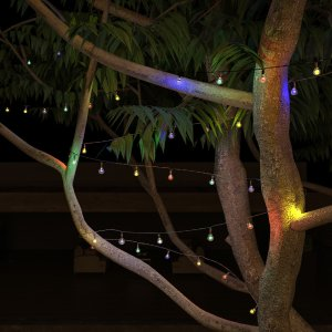 HouzzOutdoor Solar Sting Lights- Round Multicolored Globe Lights by Pure Garden - Contemporary - Outdoor Rope And String Lights - by Trademark Global