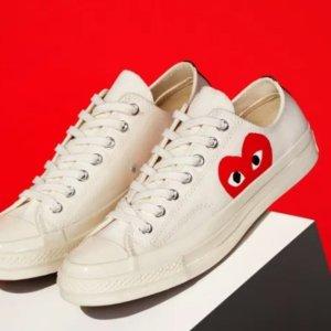 黄金码全!售价$210上新:CDG Play x Converse 联名波点小爱心鞋回归  经典潮鞋速收
