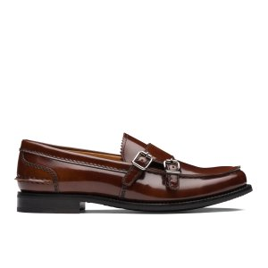 Backford 2w Polished Fume Monk Loafer Brown