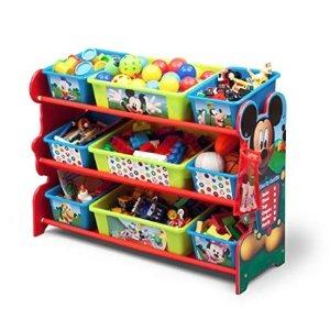 $25.67(原价$62.66)+包邮史低价:Delta Children 儿童三层玩具收纳架,迪士尼米老鼠主题