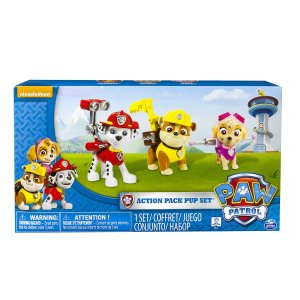 Paw Patrol Action Pack Pups 3pk Figure Set Marshal, Skye, Rubble