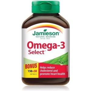 $8.99(原价$12.47)Jamieson 健美生 Omega3 深海三文鱼油 200粒超值装