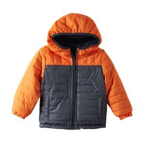 158f96048 London FogBaby Boys' 12M-24M Reversible Quilted Teddy Sherpa Jacket