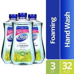$11.9 包邮Dial 全效抗菌泡沫洗手液 大瓶补充装 32Oz  鲜梨香气 3瓶