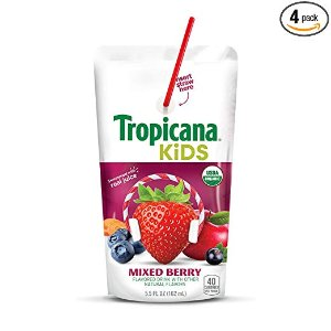 $9.57Tropicana Kids Organic Juice Drink Pouch, Mixed Berry
