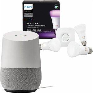 $178 Google Home + Philips Hue Color Starter Kit