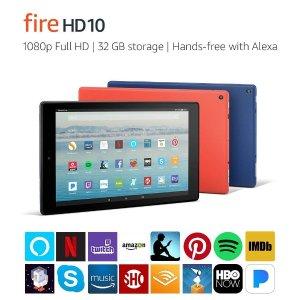 $99.99 (原价$149.99)Amazon Fire HD 10 32GB 平板电脑