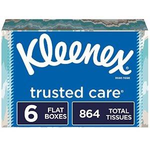Kleenex柔软面巾纸 144抽6盒 共864张