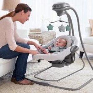 $72.78(原价$149.99)+包邮史低价:Graco DuetConnect LX婴儿2合1秋千摇椅
