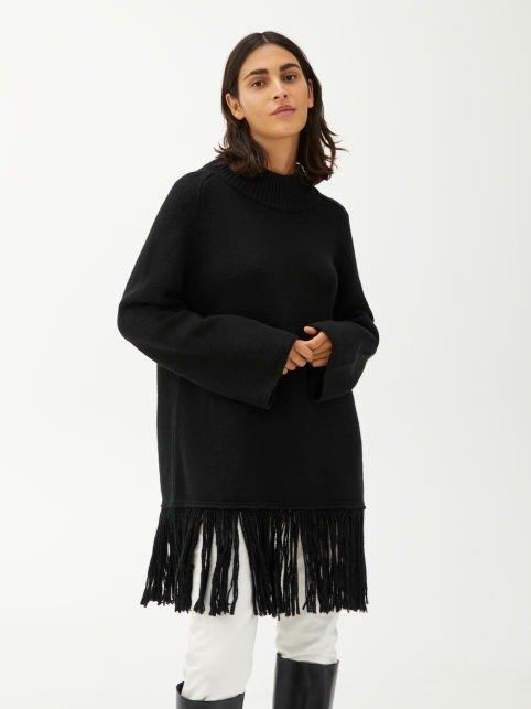 羊毛流苏上衣