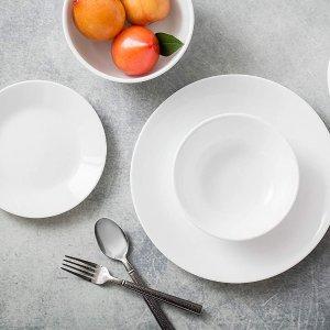 $60.76包邮(原价$105)CORELLE  素版餐具18件套  质轻安全不留细菌