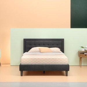 $214.2Zinus Upholstered Tufted Center Platform Bed Frame