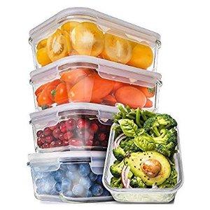 $19.03闪购:Prep Naturals 玻璃保鲜盒,30oz,5个装