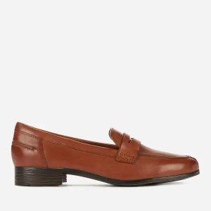 Clarks棕色乐福鞋