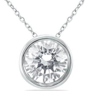 Dealmoon Exclusive: Szul LUX DEAL 1 Carat Diamond Bezel Pendant
