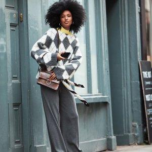 $20 收格子毛衣H&M ×  Pringle of Scotland 联名新款女装抢鲜热卖