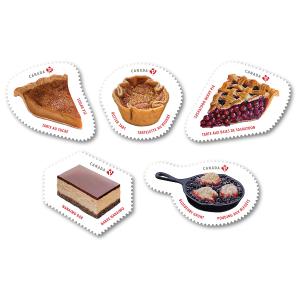 $9 一套 解锁所有甜蜜加拿大5款经典甜点放入邮票 快来看看你吃过几种