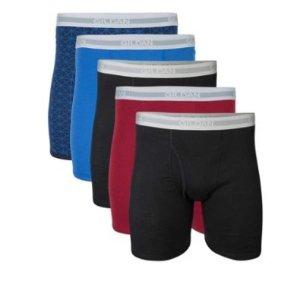 $11.97(原价$15.00)Gildan 精选男士5件套装四角内裤热卖