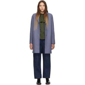 Harris Wharf London短款香芋紫大衣