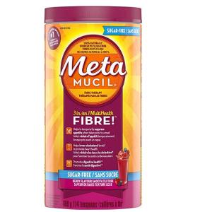 史低价 $16.57(原价$21.97)Metamucil美达施 浆果味无糖天然膳食纤维粉 660g 114次
