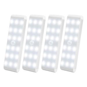 $24.99(原价$65.99)史低价:Lightbiz 18-LED 室内运动感应灯4件套 可充电 可作起夜灯