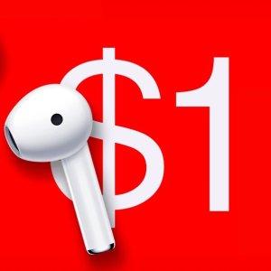 $1白菜价 最后一轮美东14pm预告:OnePlus Buds 真无线耳机, Bullets Z运动耳机 一日大促