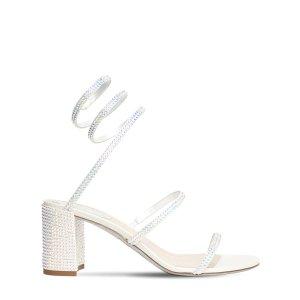 Rene Caovilla蛇形缠绕带中跟鞋